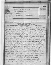 1096654  George Chapman - Mr.J.Mcallum 72 Garnock St Dalry Airgraph 1944 BF219