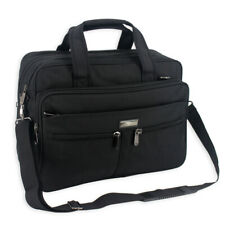 Mens Black Laptop Briefcase business messenger shoulder School college work bag