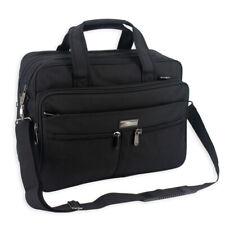 Mens Black Laptop Briefcase business messenger shoulder School college work bag