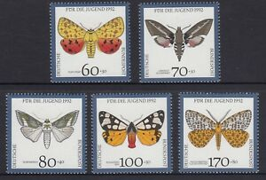 GERMANY - 1992 YOUTH WELFARE FUND  set of 5 MNH - Butterflies ,Insects ,Wildlife