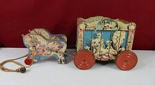 Vintage Gong Bell Co Wood Circus Wagon with Horses