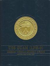 ☆ Uss Guam Lph-9 Desert Storm Deployment Cruise Book Year Log 1990-91 - Navy ☆