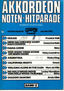 gebrauchte Akkordeon Noten - AKKORDEON NOTEN - HITPARADE - Band 15