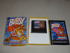 SEGA GENESIS VIDEO GAME BUBSY COMPLETE W BOX & MANUAL ACCOLADE JVC X EYE NOMAD