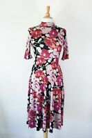 ZARA // Size S // Stunning Floral High Neck Midi Dress