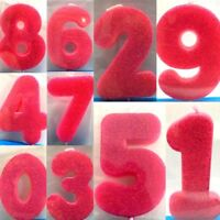 New Cake Candle Numbers Glitter Candles Birthday Candle Party Girl Pink 0-9