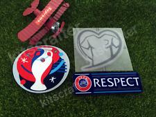 Euro 2016 Soccer Sleeve Patch Set Heart Respect European Championship 2016