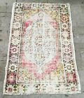 Welcome Rug Vintage Home Decor Handmade Distressed Doormat Rug Small Rug 3x4 ft