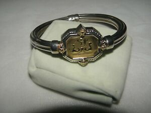 TAGLIAMONTE BRACELET 14KT GOLD AND STERLING SILVER POSEIDON SEAHORSES DESIGN NEW