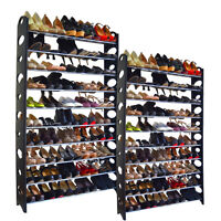 20-Tier Shoe Rack 100 Pair Wall Bench Shelf Closet Organizer Storage Box Stand
