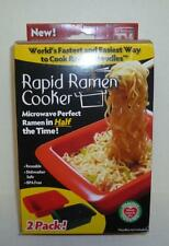 RAPID RAMEN COOKER 2 PACK NEW FOR MICROWAVE COLLEGE DORM STUDENTS AS SEEN ON TV