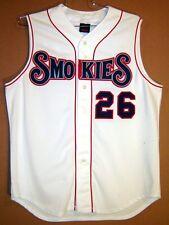 TENNESSEE SMOKIES White Vest #26 MINOR LEAGUE BASEBALL GAME WORN JERSEY