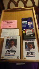 Mario Andretti Racing (Sega Genesis, 1994) Complete in Box Instructions Poster