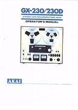 Akai  Bedienungsanleitung user manual owners manual  für GX- 230 D