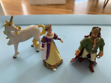 Papo 2002 White Horse Unicorn - queen and king - Set of 3 figurines