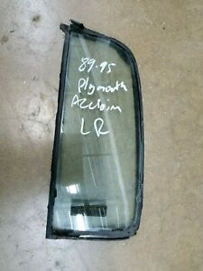 1989-1995 Plymouth Acclaim Sprirt Labaron Driver Left Rear Vent Window Glass