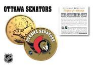 OTTAWA SENATORS Legal Tender GOLD Canada Quarter Coin NHL