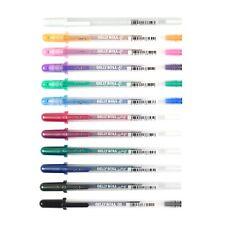 12 Sakura Gelly Roll Gold & Silver Shadow Color Gel Ink Pen Medium Point Art Set