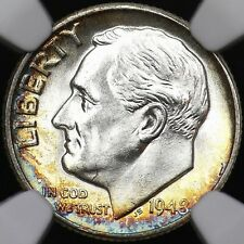 NGC ROOSEVELT ONE DIME 1948 SLAB MS66 TOP QUALITY