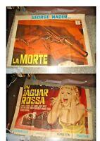 Die Tod IN Jaguar Rot Manifesto 4F Original 1968 George Nader