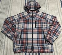 Men's AMERICAN EAGLE Outfitters Red Blue Plaid Winter Ski Jacket Coat Size M