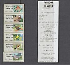 ERRORS -  BIRDS 1 WINCOR  SET 6  ww10g Post Go BRISTOL SG CAT £90 AS NORMALS