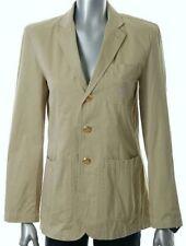New Polo Ralph Lauren Womens Tan Beige Crest Blazer Jacket  XL Gold Buttons