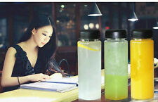 500ML Transparent Color Bottle Logo Sport Plastic Fruit Juice Water Bottle