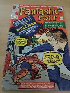 MARVEL COMICS FANTASTIC FOUR 1963 ORIGINAL #22 1ST APP of MOLE MAN. 🔥🔥