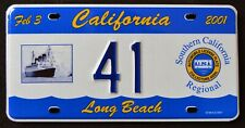 "ALPCA CALIFORNIA "" QUEEN MARY - LONG BEACH "" CA Graphic Licence Plate"
