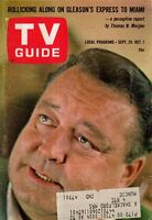 1965 TV Guide September 25 - Jackie Gleason; Rudolph Nureyev; Tony Curtis