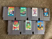 Lot Of 7 NES Nintendo Entertainment System Games - Tested (Dragon Warrior Mario)