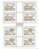 Tschechoslowakei 2586-2587 Kleinbögen (kompl.Ausg.) postfrisch 1980 Preßburg