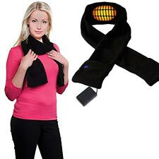 Hot New lBlack Electric Battery Powered Heated Neck Wrap Scarf for Men and Women