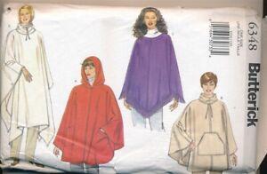 Butterick 6348 Poncho Pattern Woman's One Size Uncut Factory Folded