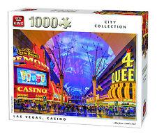 NUOVO! King Las Vegas Casinò 1000 Pezzi Puzzle CITY Scene