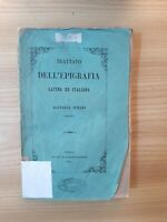 Torino 1856 Trattato dell'epigrafia Latina ed Italiana - R. Notari Barnabita