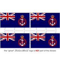 British DEPARTMENT for TRANSPORT Flag UK 5cm Sticker x4