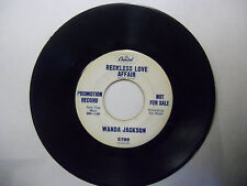 Wanda Jackson Tears Will Be The Chaser For Your Wine/Reckless Love Affair 45 RPM