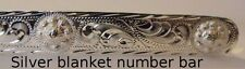 Extraordinary Show Blanket horse show number bar Sterling silver Set of 2