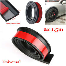 2pcs 55mm Widening 1.5m Black Rubber Auto Car Wheel Fender Flares Protector