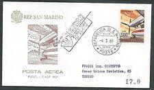 1965 SAN MARINO FDC FAIP POSTA AEREA TIMBRO ARRIVO - RD15