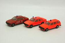 Herpa 1/87 HO - Lot de 3 Opel Rekord Kadett Pompiers