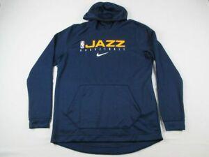 Utah Jazz Nike Sweatshirt Men's Blue Dri-Fit NEW Multiple Sizes