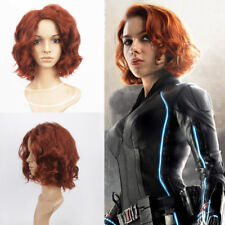 NEW Avenger Alliance 2 Ao era Black Widow Short Curls Female Cosplay Wig US SHIP
