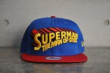 New Era Superman The Man Of Steel Classic Word White 9Fifty Snapback Cap