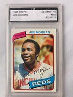 1980 Joe Morgan Topps FGS 10 Gem Mint