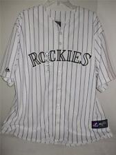 MLB Colorado Rockies 2X Licensed White Home Jersey Majestic NWT