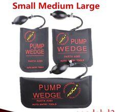 A Full Set Small/Medium/Large Size Black Klom Air Pump Wedge Locksmith Supplies