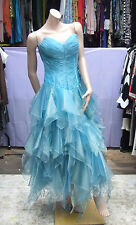 Exquisite Dress BNWT Frozen Ice Princess Blue Moon Romantica Evening Gown UK 10